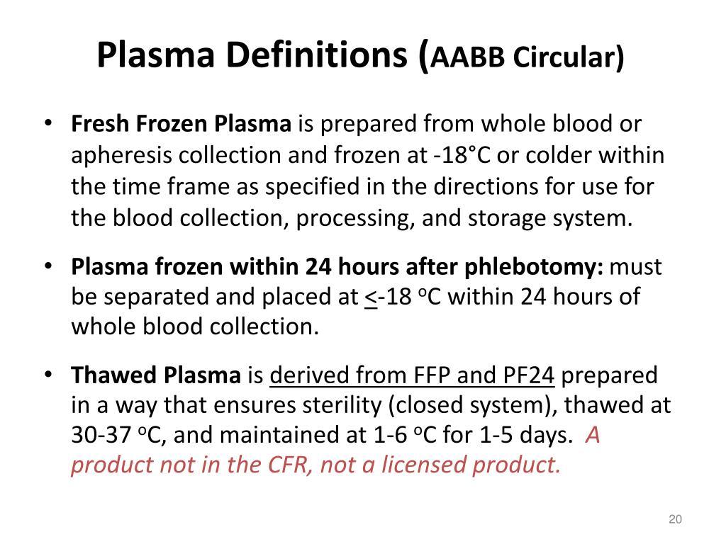 Plasma Definitions (