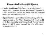 plasma definitions cfr cont