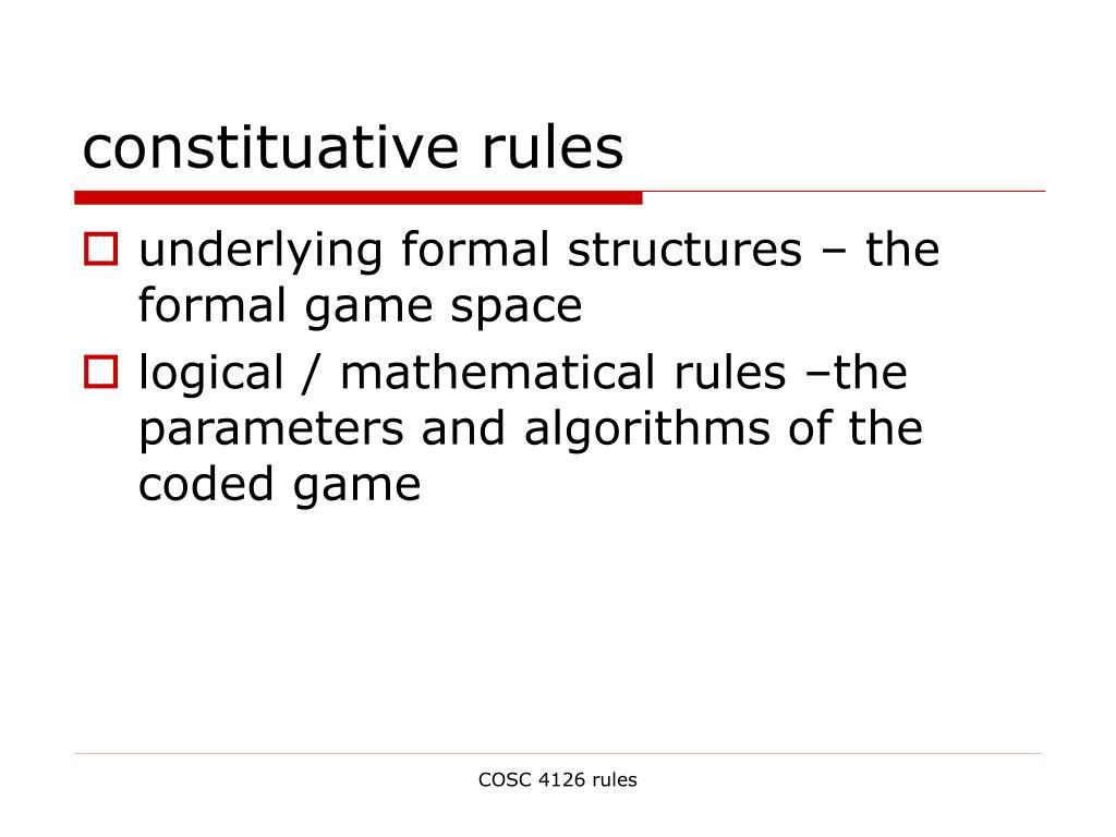 constituative rules