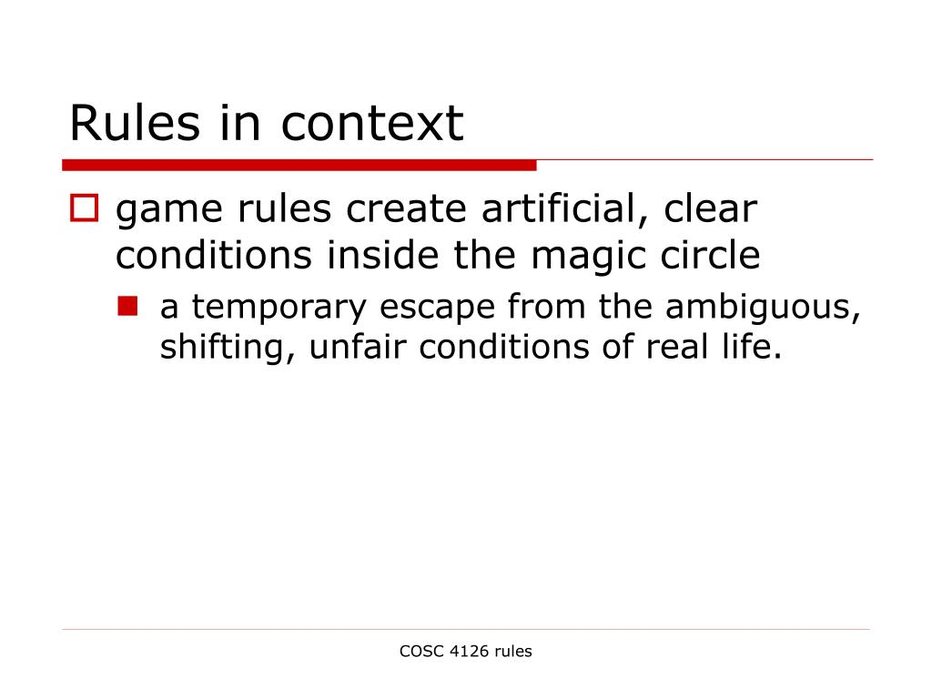 Rules in context