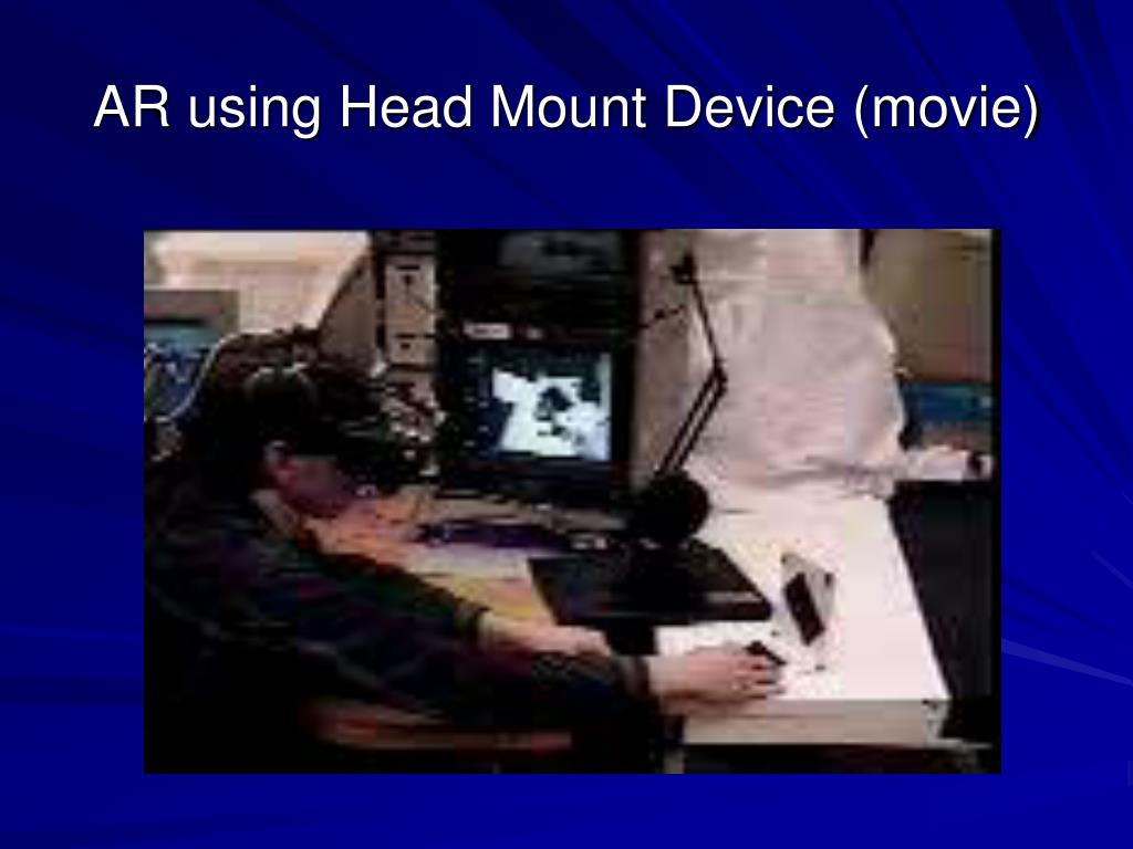 AR using Head Mount Device (movie)