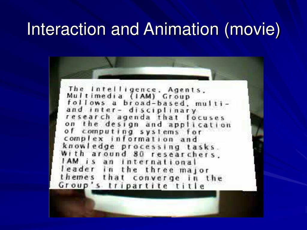 Interaction and Animation (movie)