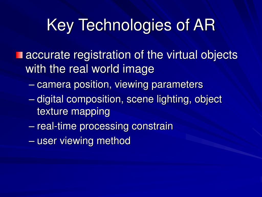 Key Technologies of AR