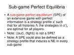 sub game perfect equilibria