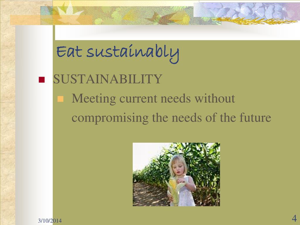 Eat sustainably