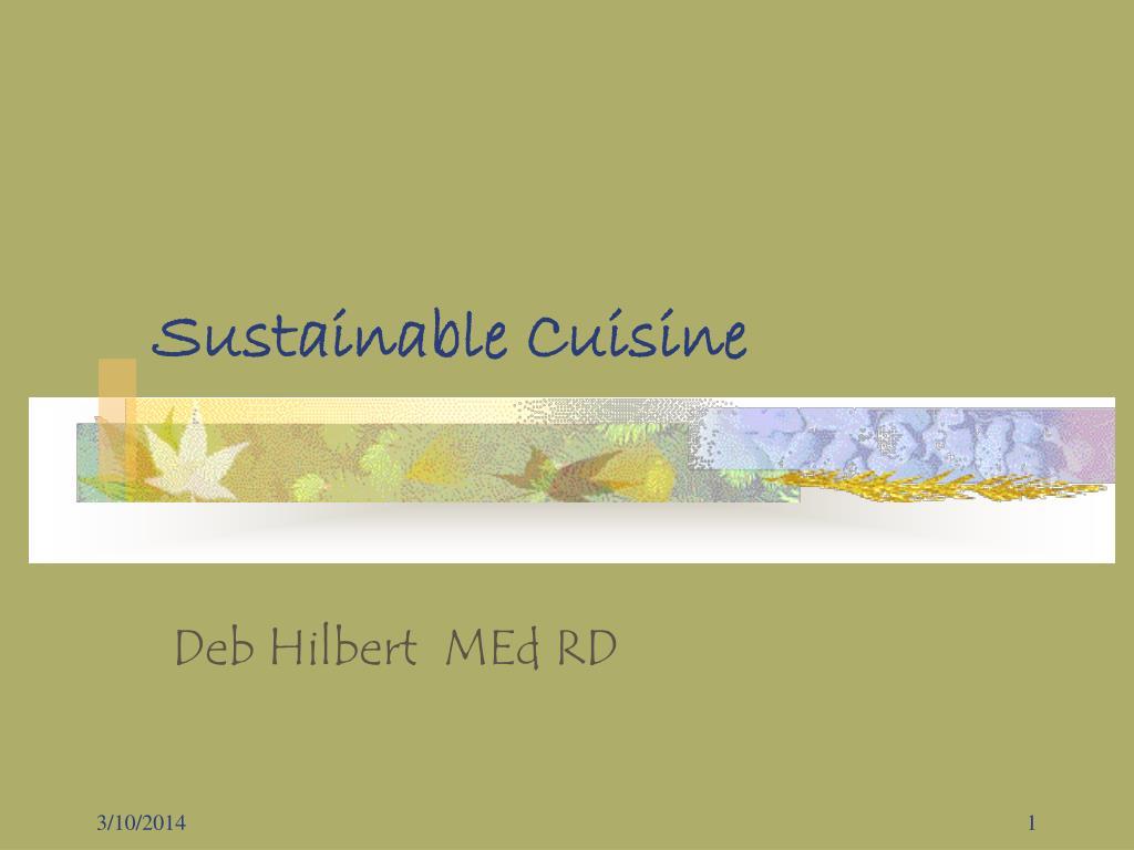 Sustainable Cuisine
