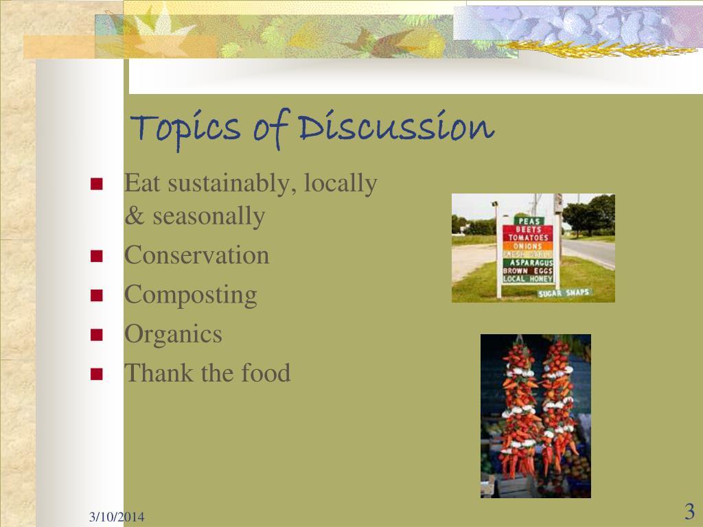 Eat sustainably, locally & seasonally