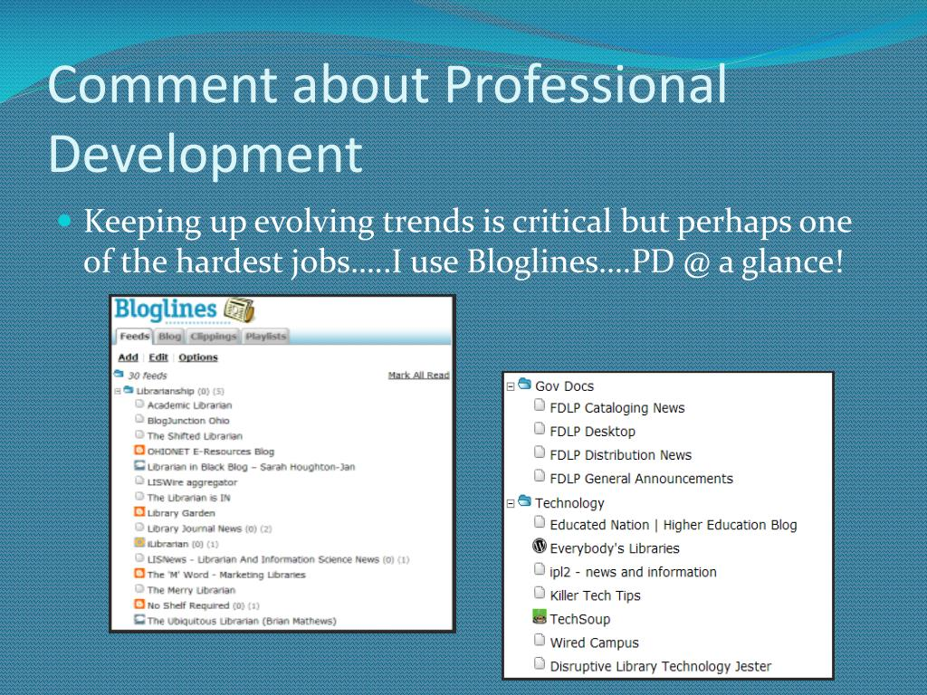 Comment about Professional Development