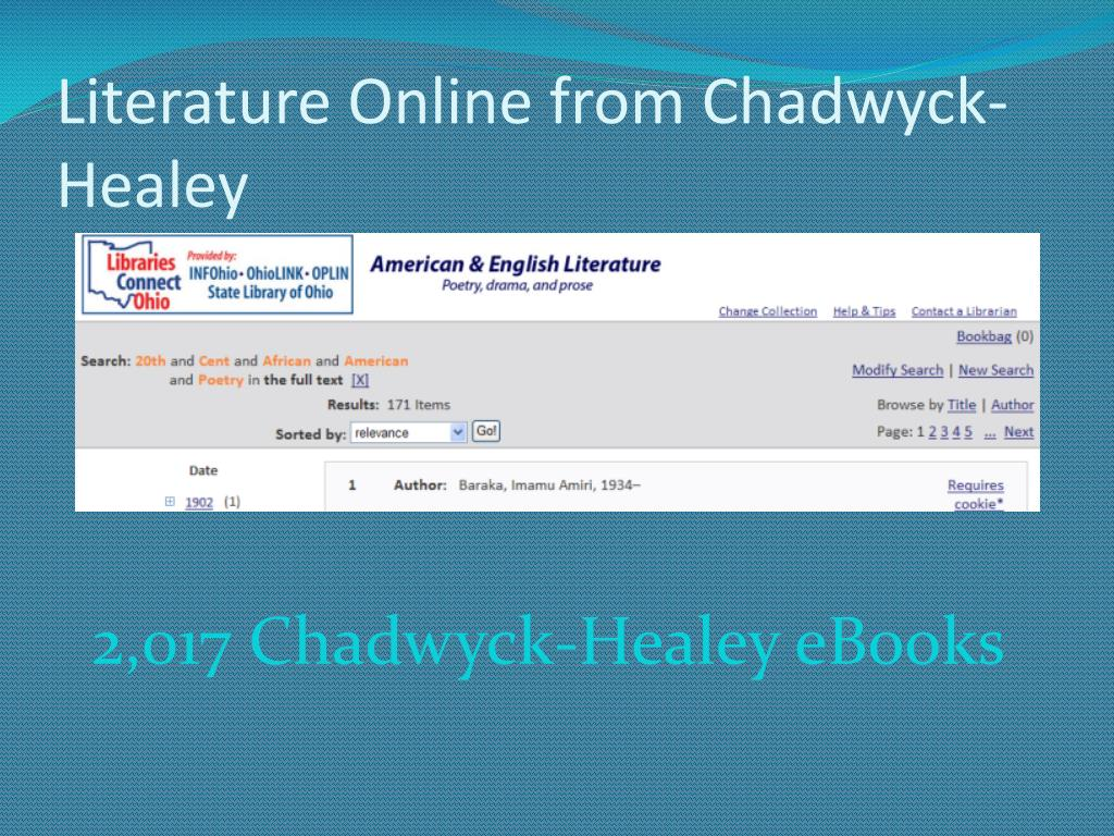 Literature Online from Chadwyck-Healey