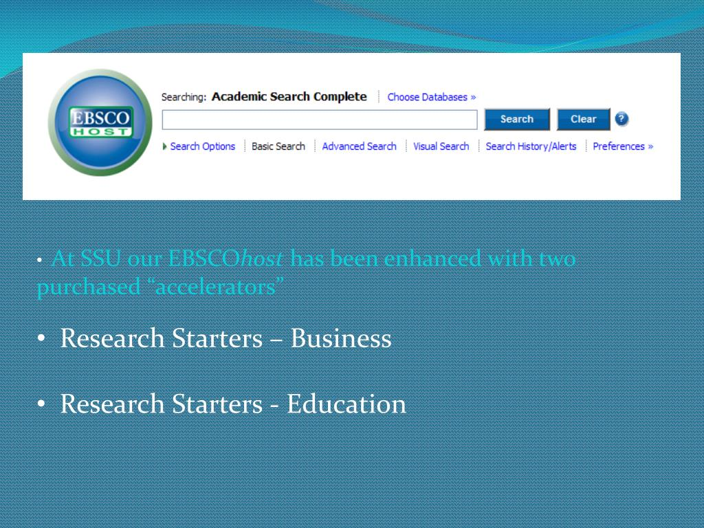 At SSU our EBSCO