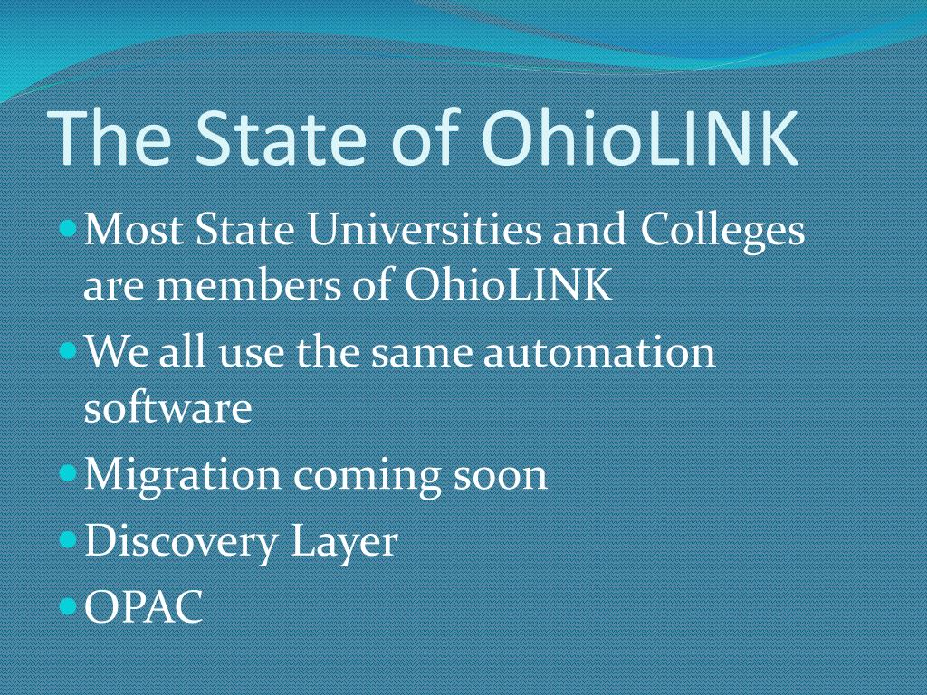 The State of OhioLINK