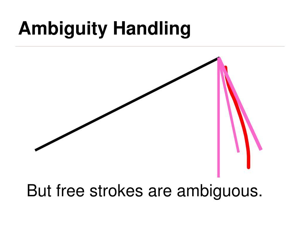 Ambiguity Handling
