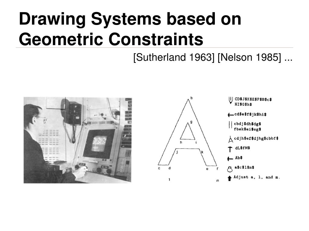 Drawing Systems based on Geometric Constraints