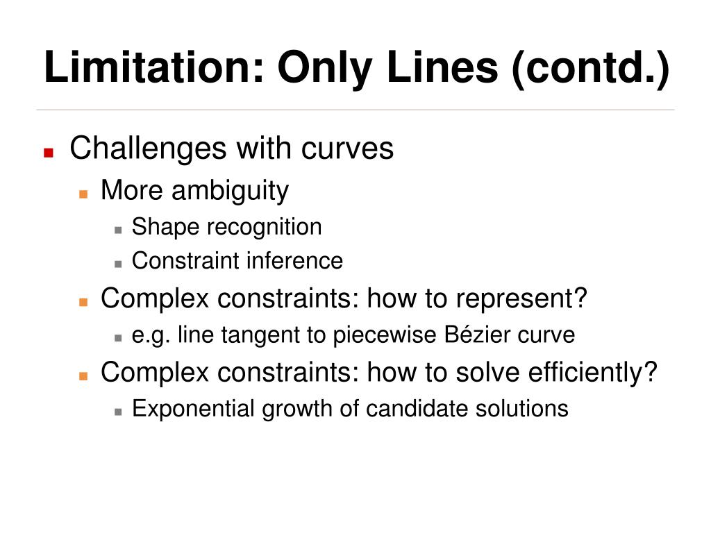 Limitation: Only Lines (contd.)