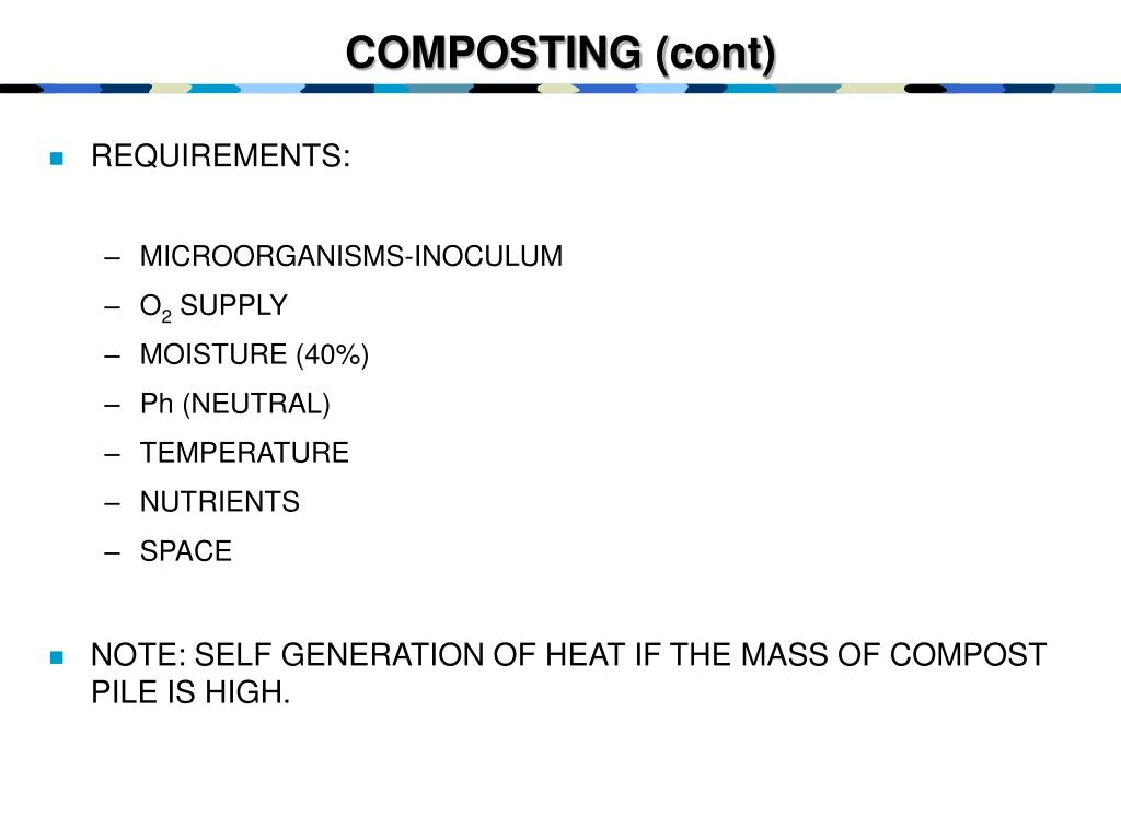 COMPOSTING (cont)
