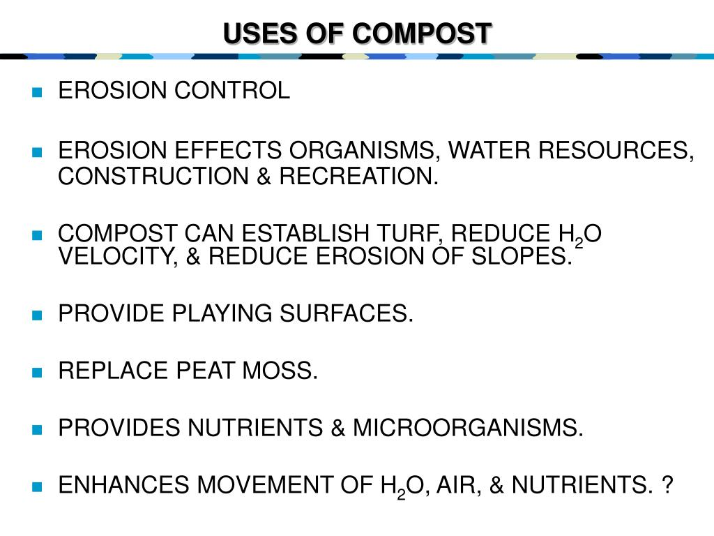 USES OF COMPOST