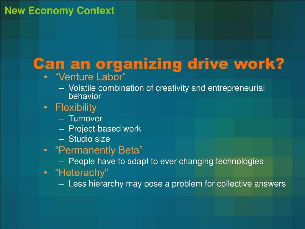New Economy Context