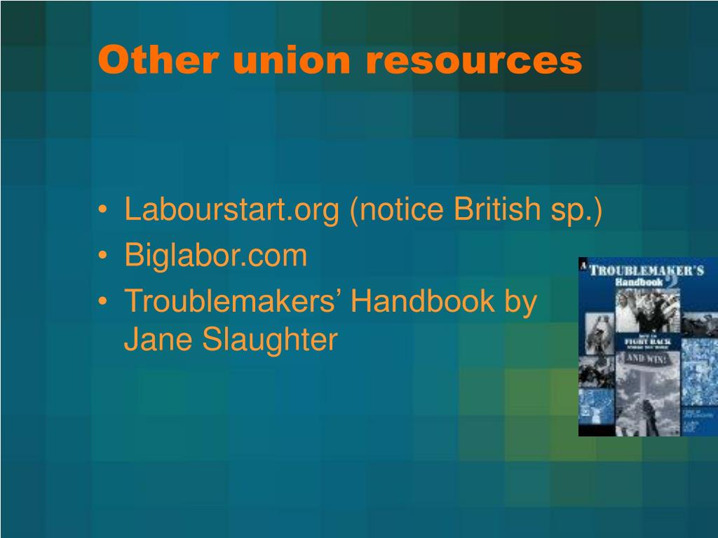 Other union resources