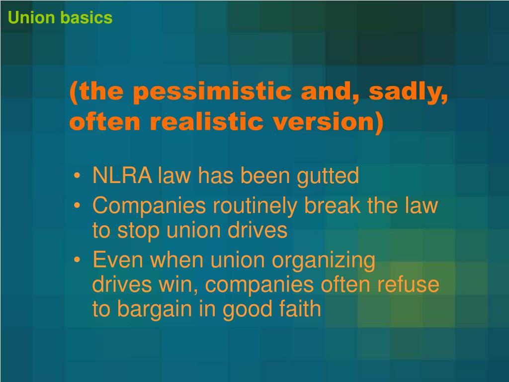 Union basics