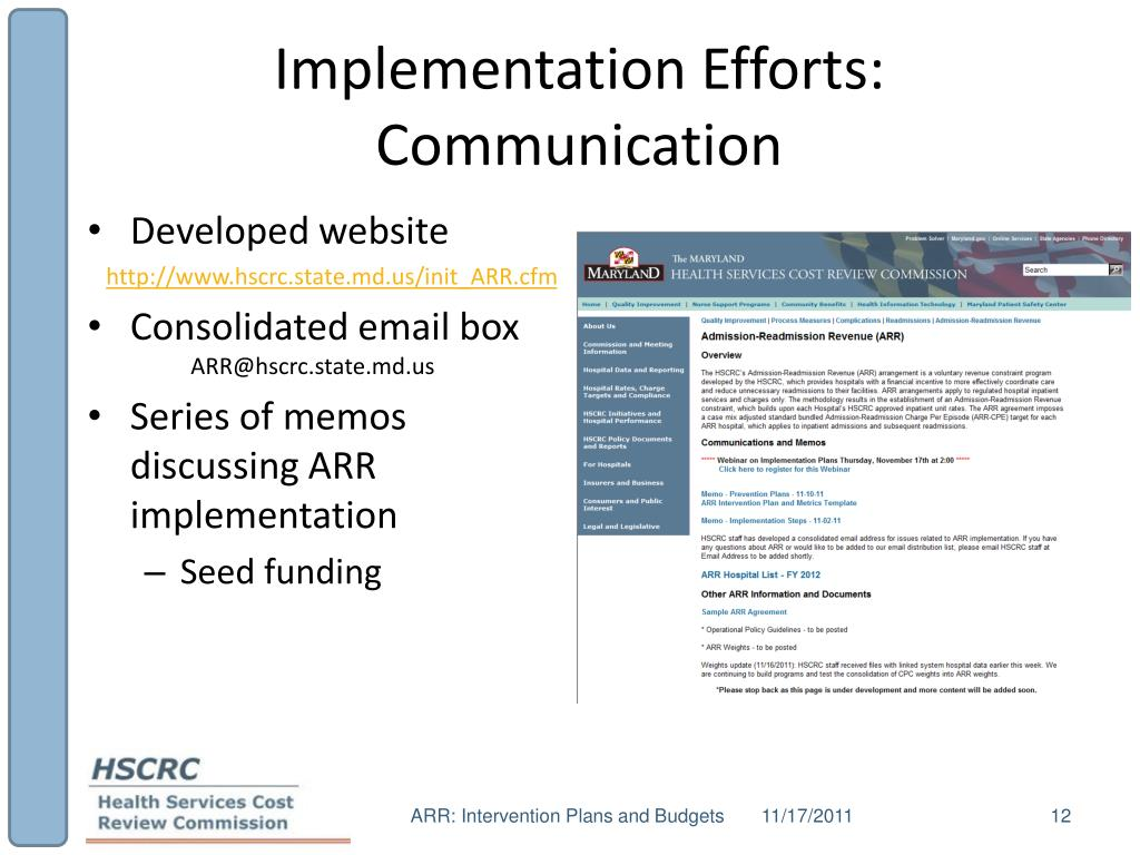 Implementation Efforts: Communication