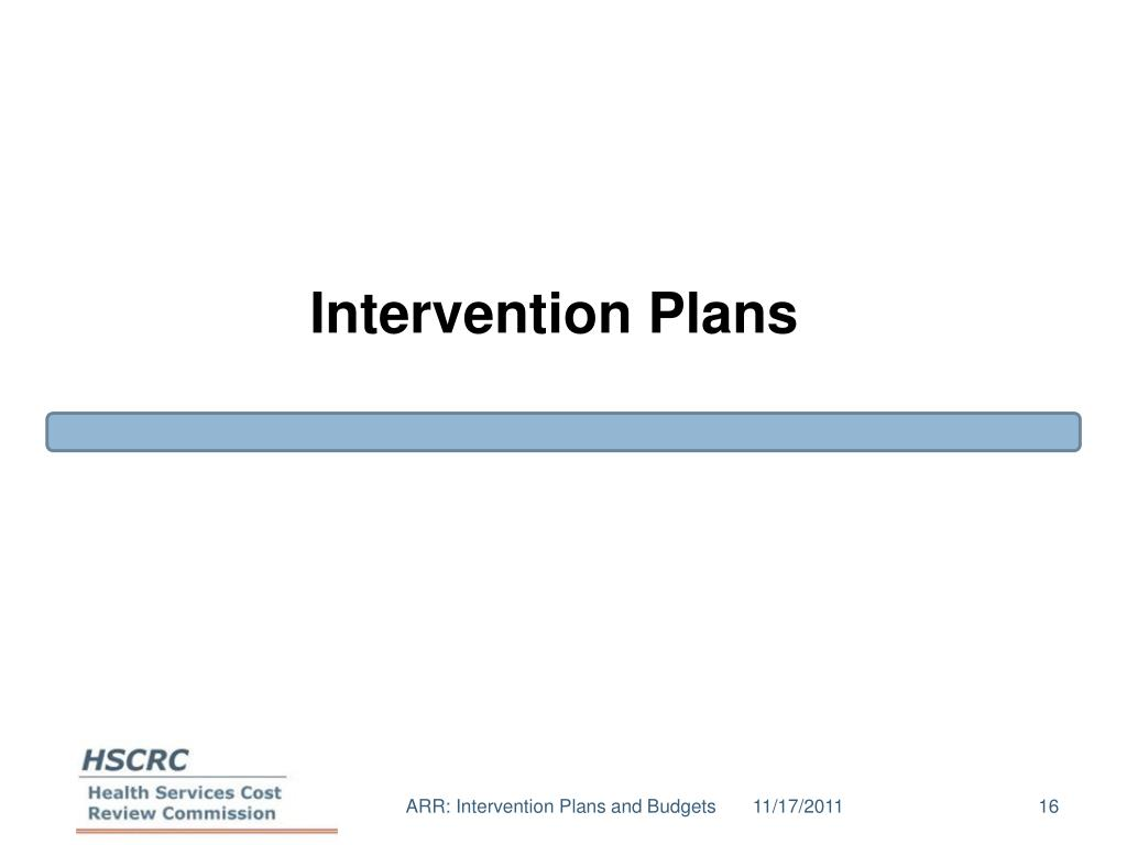 Intervention Plans
