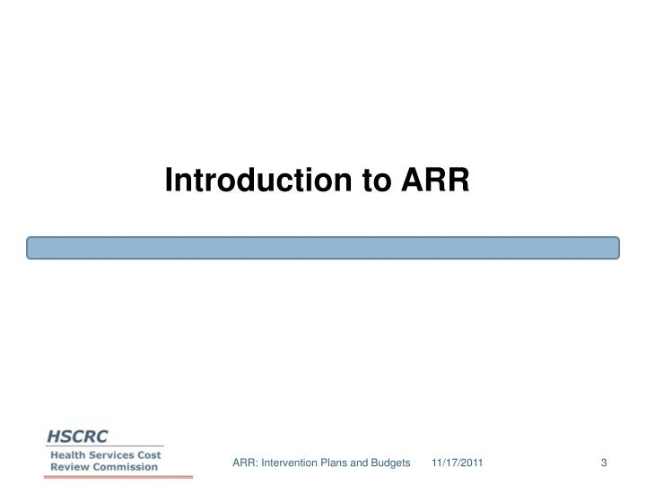 Introduction to arr