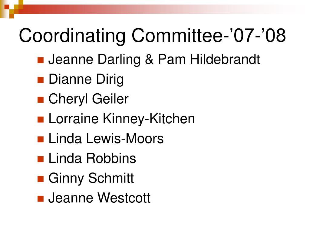 Coordinating Committee-'07-'08