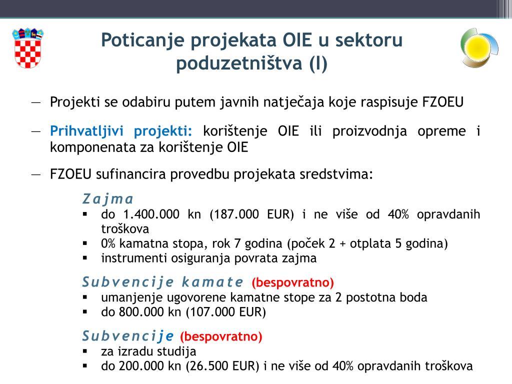 Poticanje projekata OIE u sektoru poduzetništva (I)