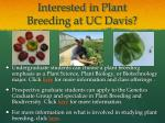 interested in plant breeding at uc davis