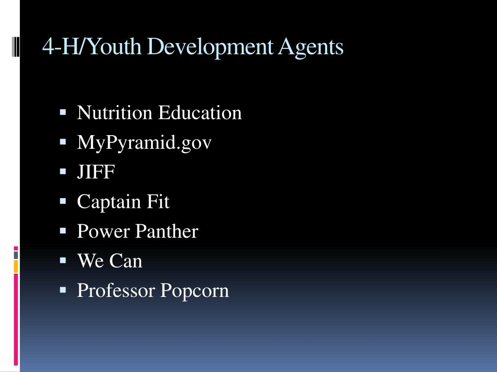 4-H/Youth Development Agents