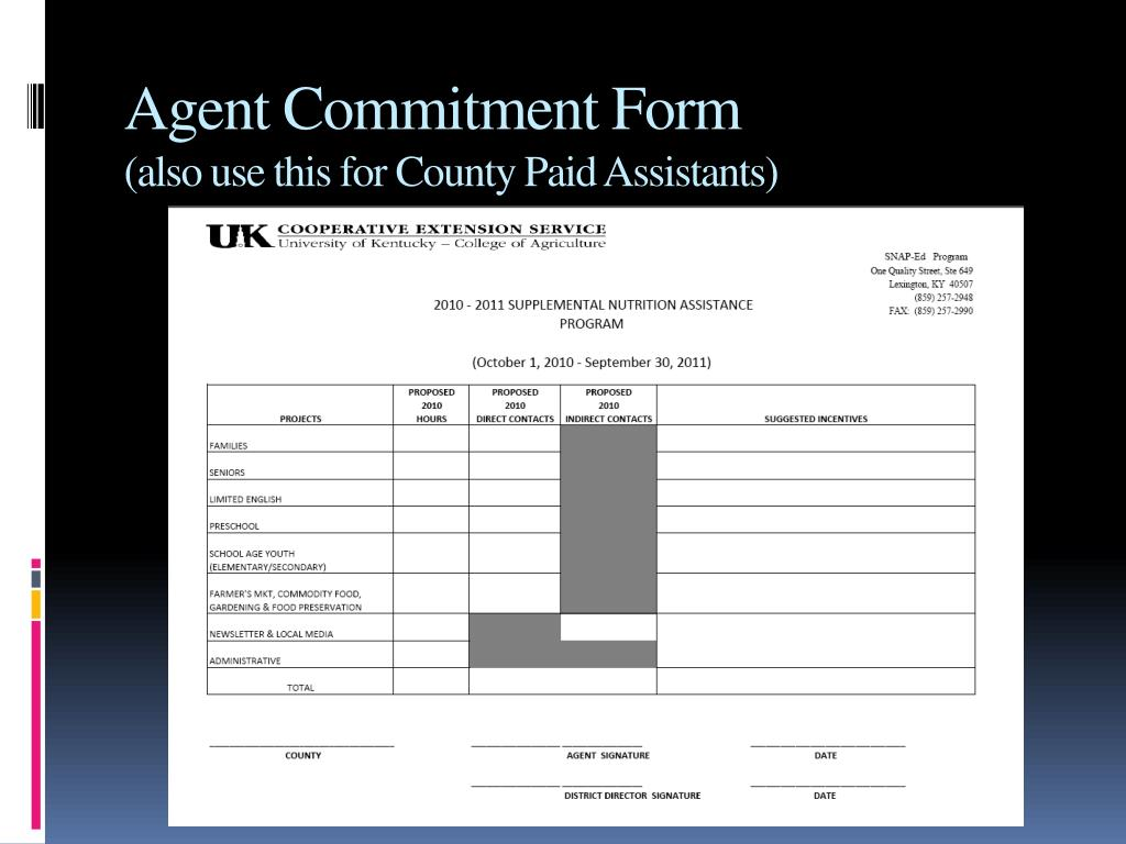 Agent Commitment Form