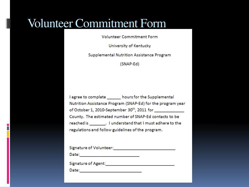 Volunteer Commitment Form
