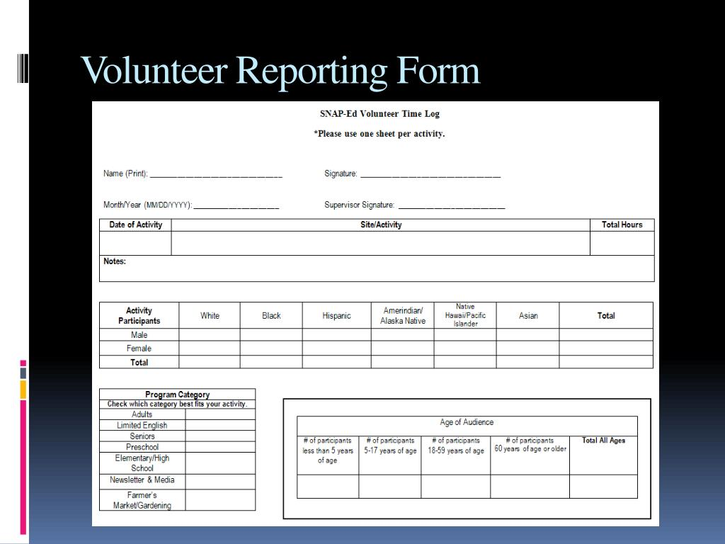 Volunteer Reporting Form