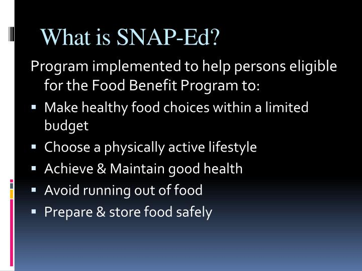What is snap ed