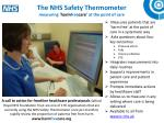 the nhs safety thermometer measuring harm free care at the point of care