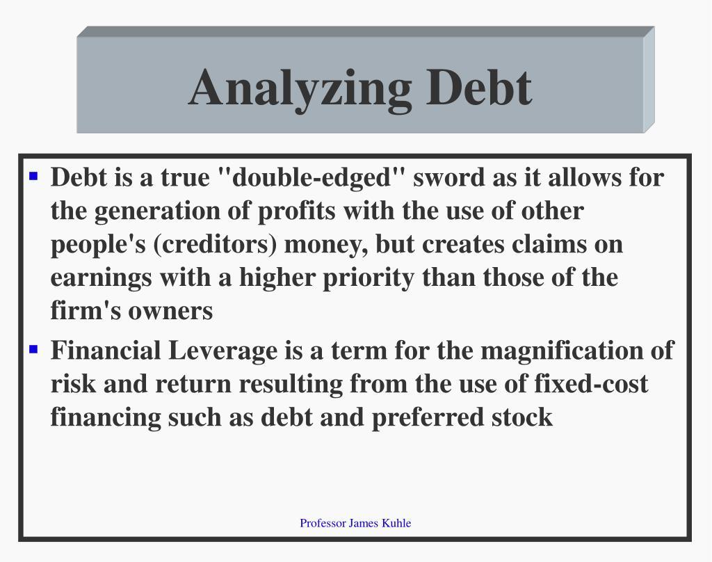 Analyzing Debt