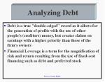 analyzing debt