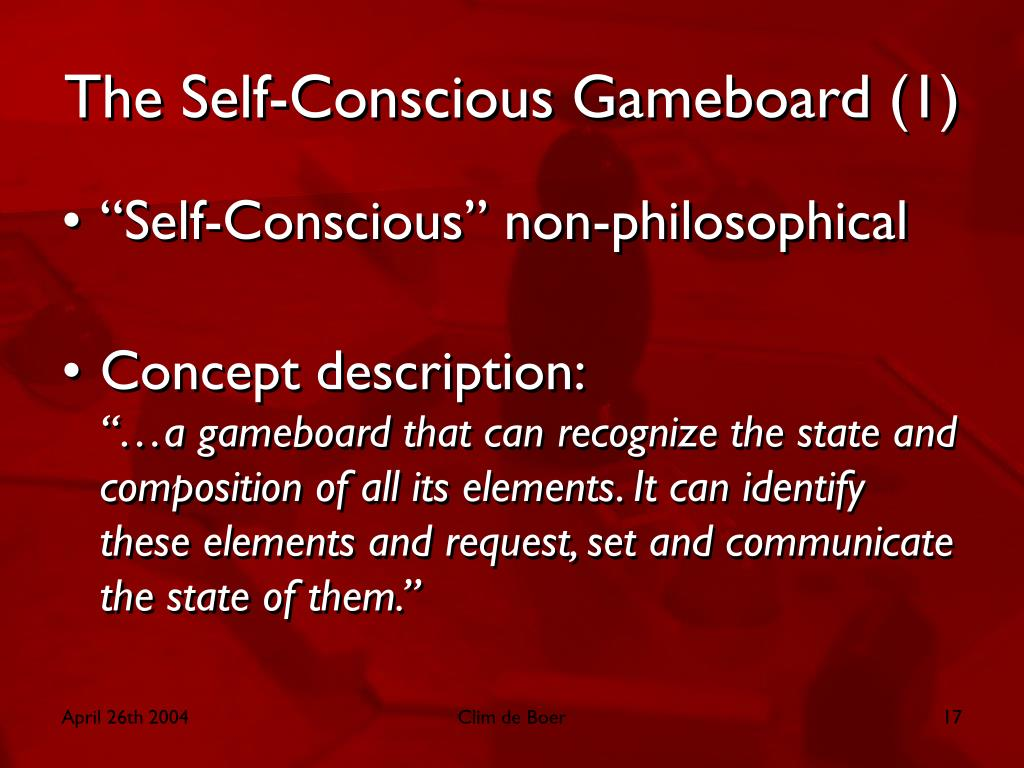 The Self-Conscious Gameboard (1)