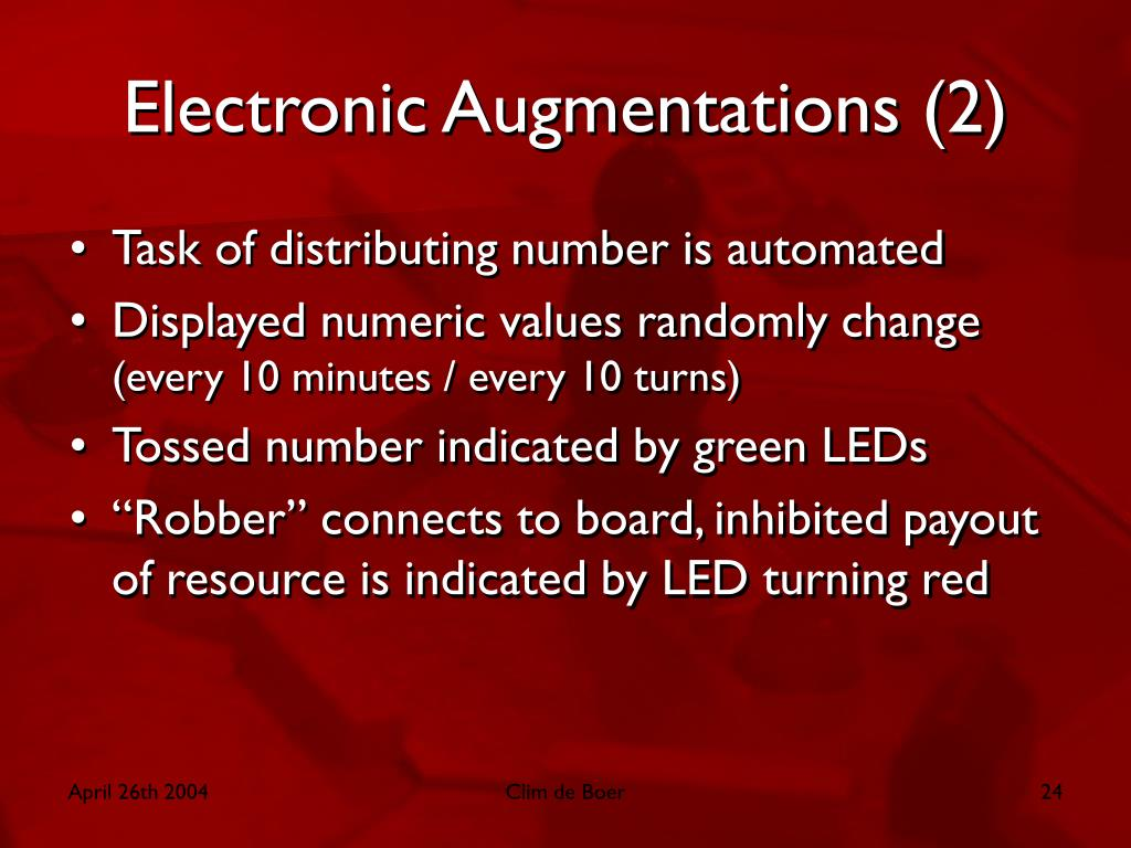 Electronic Augmentations (2)