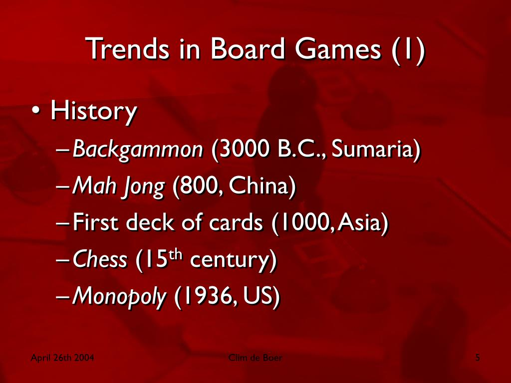 Trends in Board Games (1)