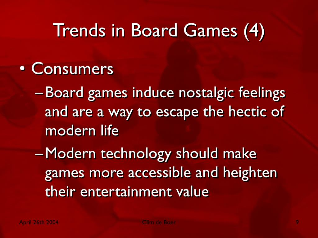 Trends in Board Games (4)