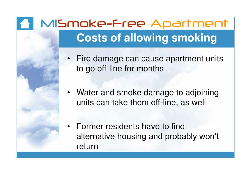 Costs of allowing smoking