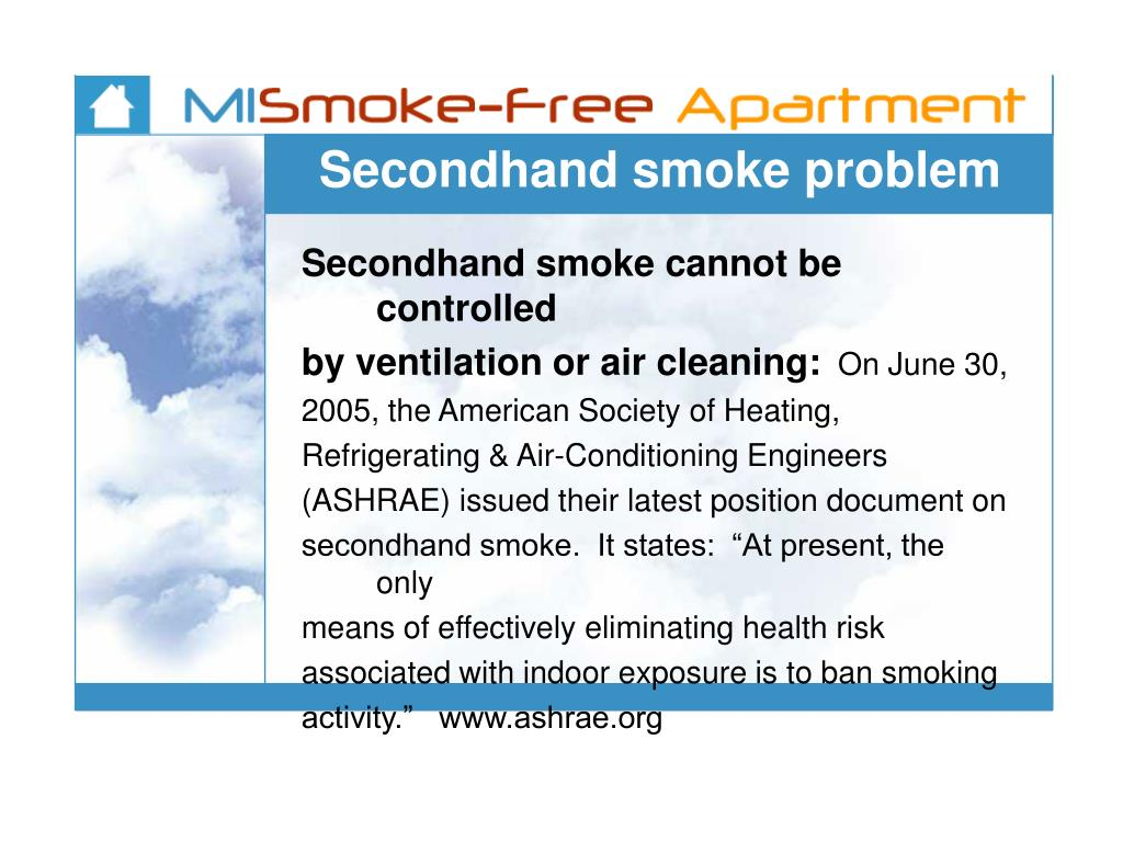 Secondhand smoke problem