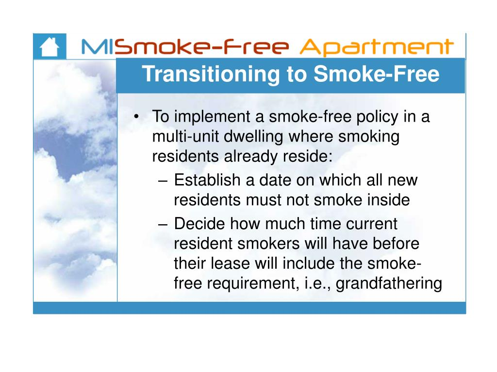 Transitioning to Smoke-Free
