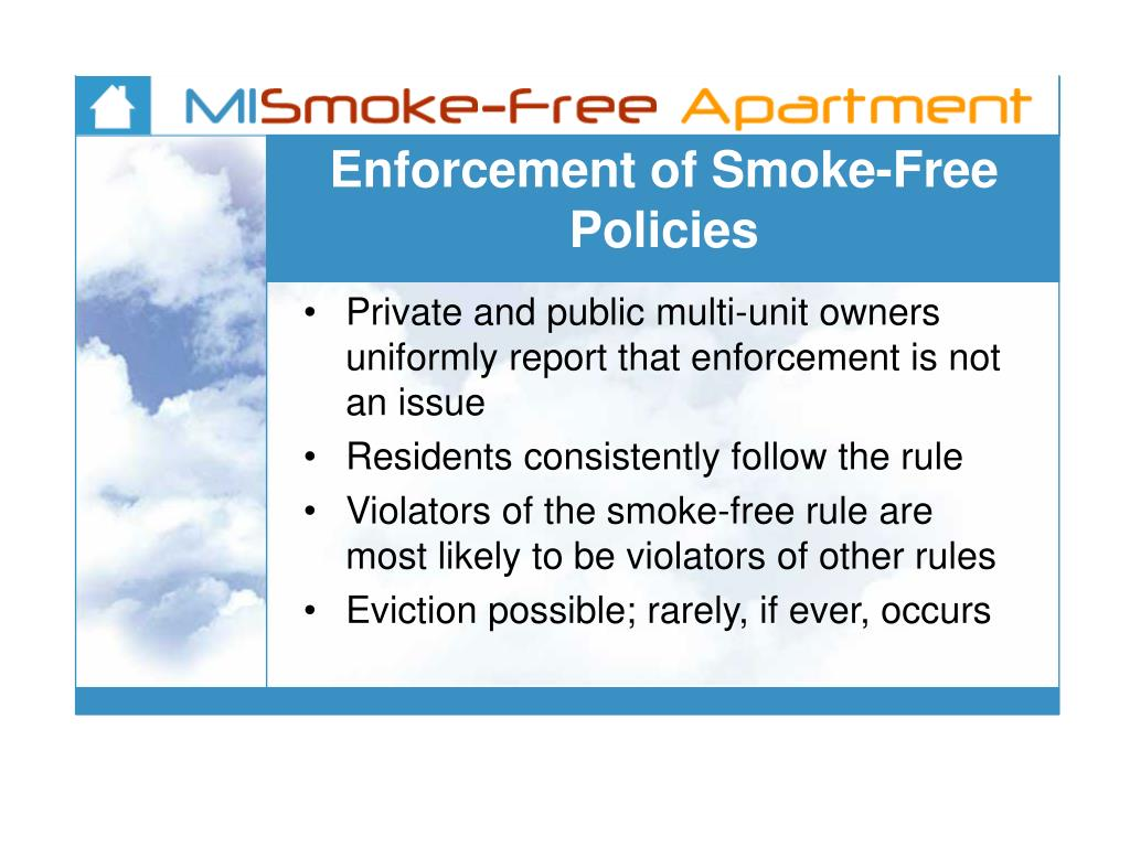 Enforcement of Smoke-Free Policies