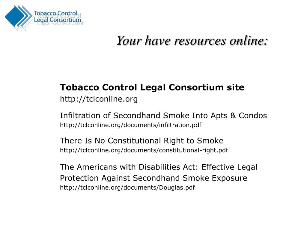 Tobacco Control Legal Consortium site