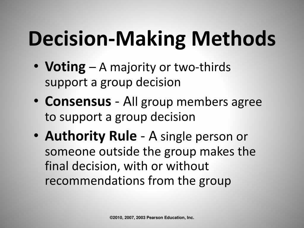 Decision-Making Methods
