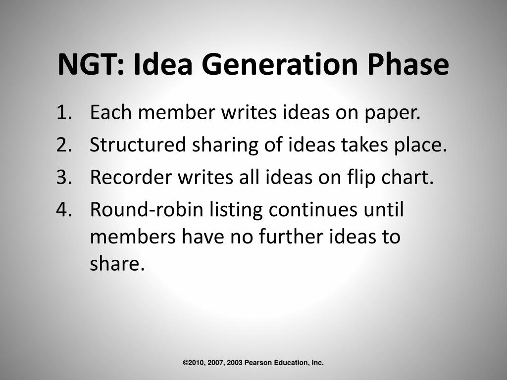 NGT: Idea Generation Phase