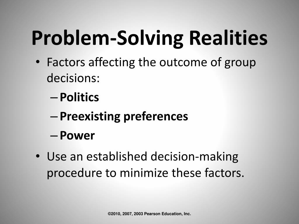 Problem-Solving Realities