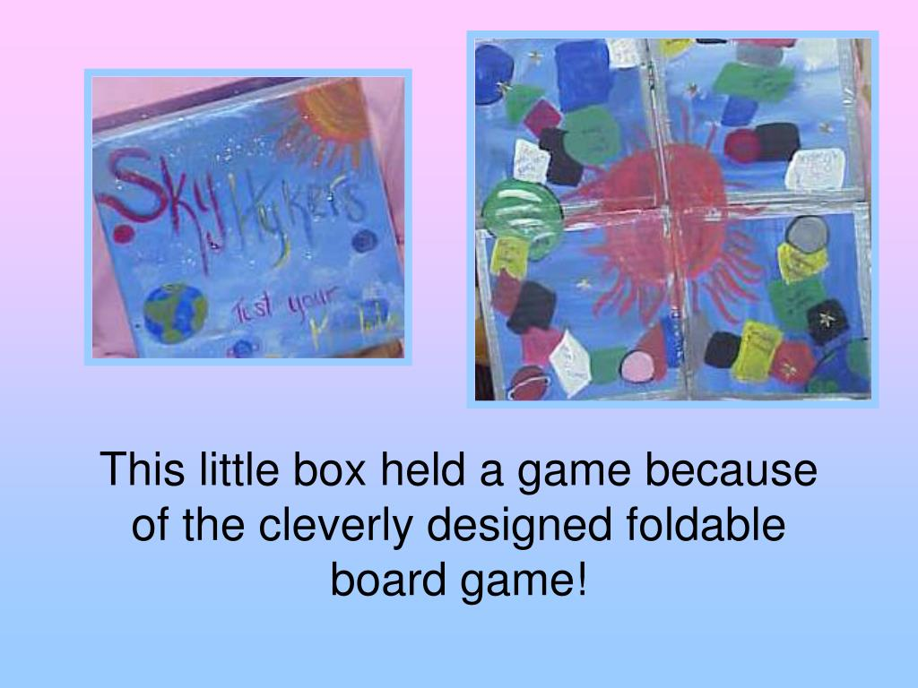 This little box held a game because of the cleverly designed foldable board game!
